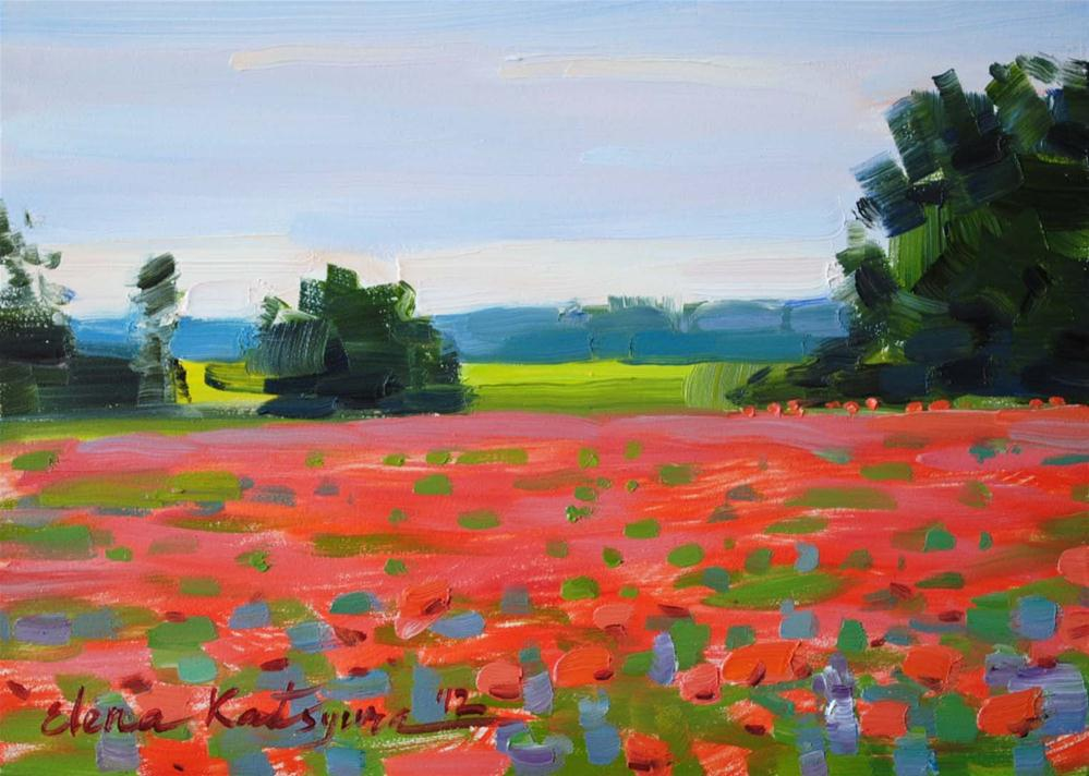 """Poppy Field"" original fine art by Elena Katsyura"