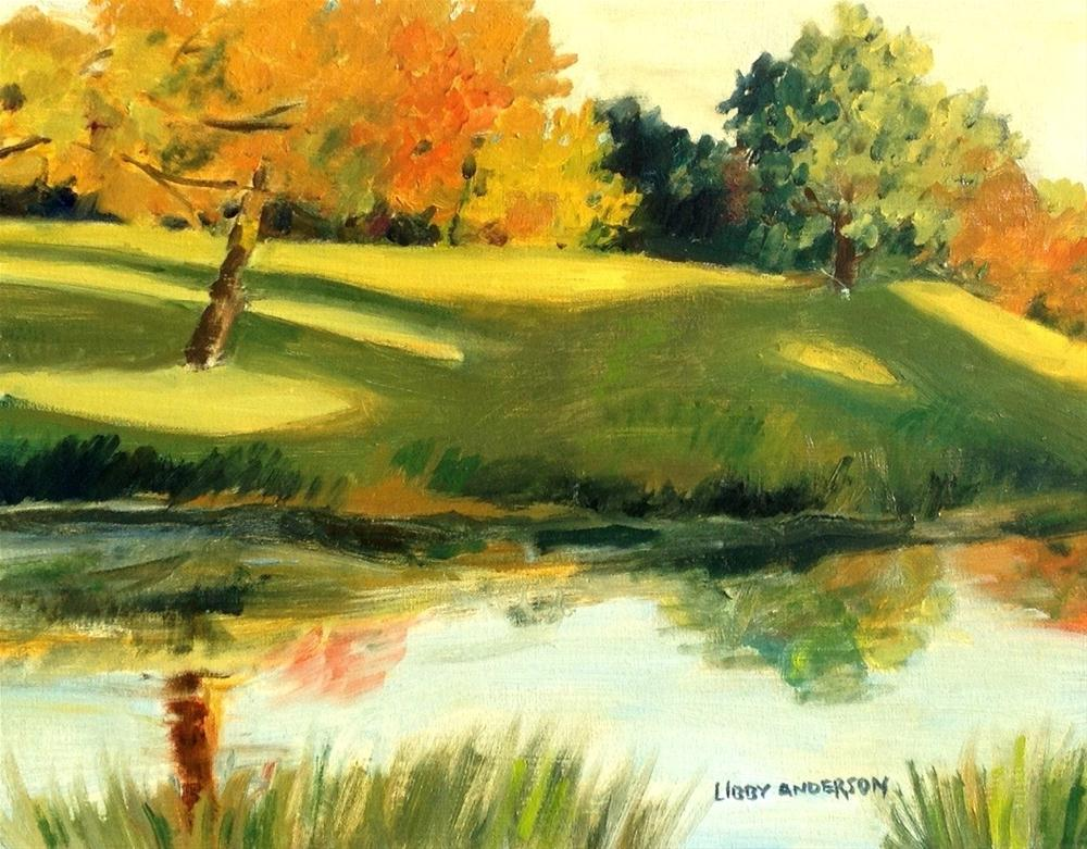"""On The Course"" original fine art by Libby Anderson"