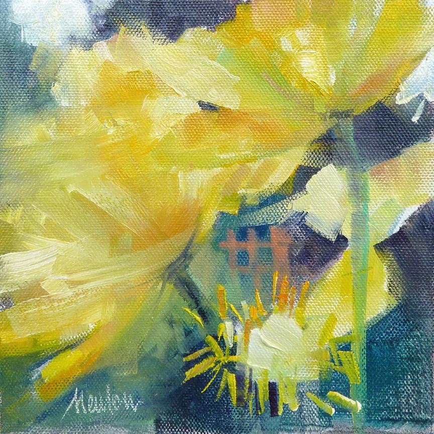 """Poppies Study SUPER SUMMER SALE"" original fine art by Barbara Benedetti Newton"