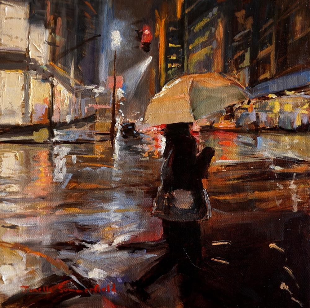 """Rainy Night in Manhattan III"" original fine art by Jonelle Summerfield"