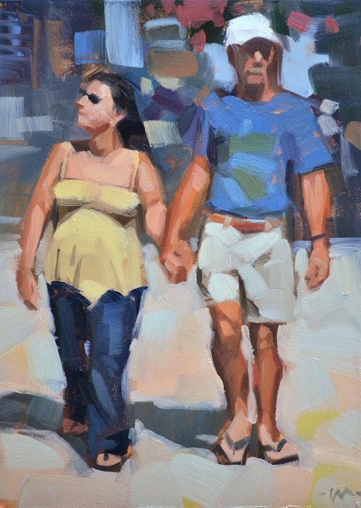 """""""Strolling in Florida"""" original fine art by Carol Marine"""