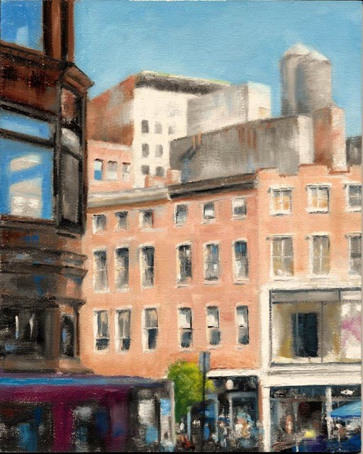 """Sunlight and Windows---Union Square, New York City"" original fine art by Ruth-Ann Carlock"