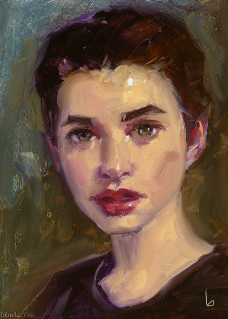 """Cherry Lips"" original fine art by John Larriva"