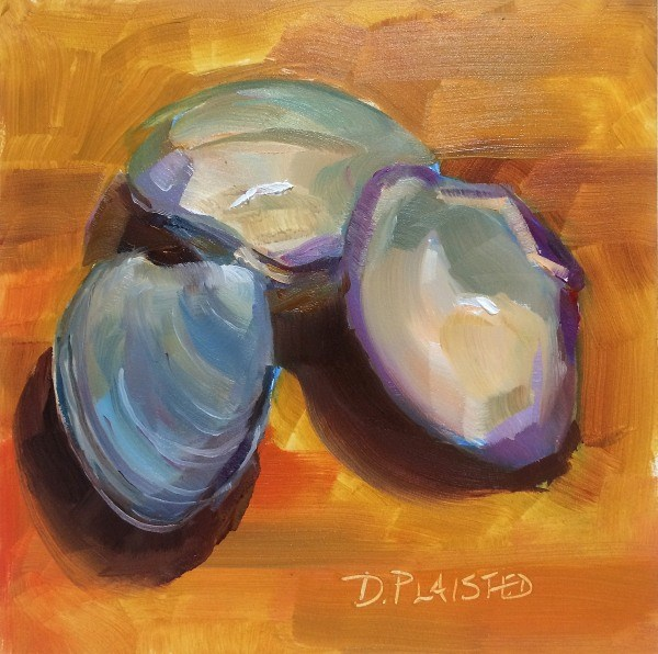 """Summer Cherrystones"" original fine art by Diane Plaisted"