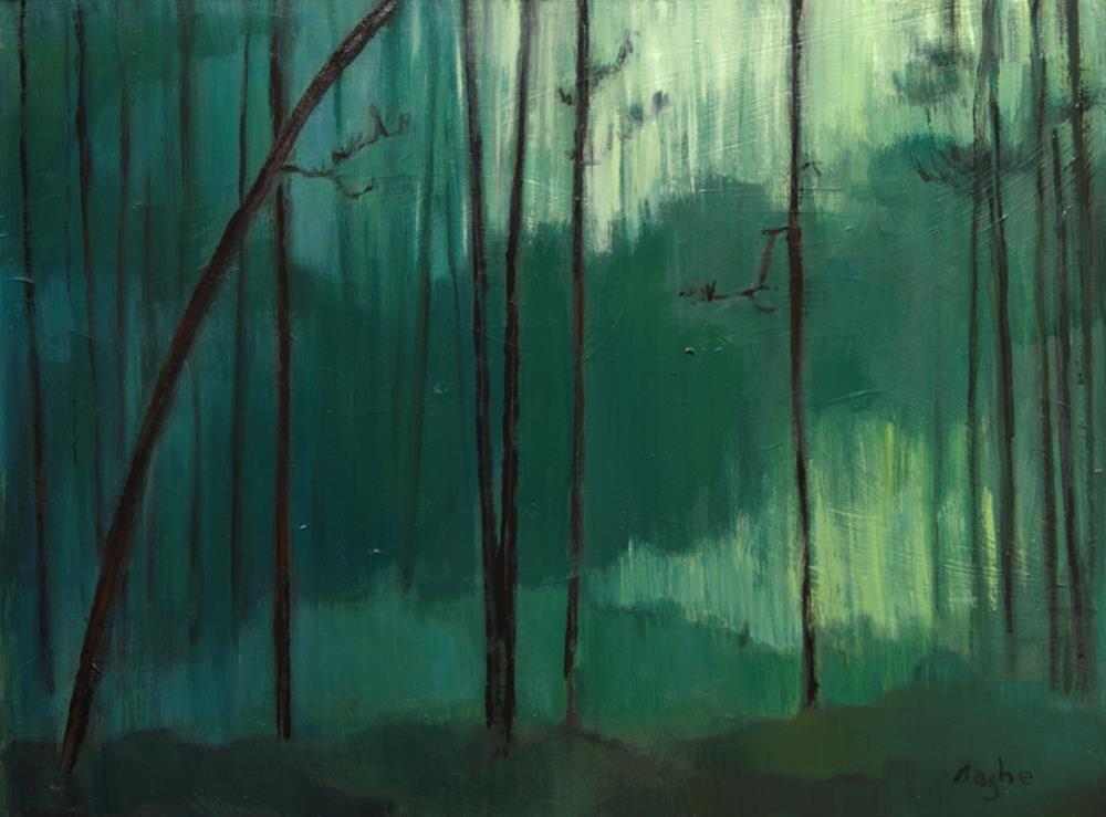 """""""Deep Green"""" original fine art by Angela Ooghe"""