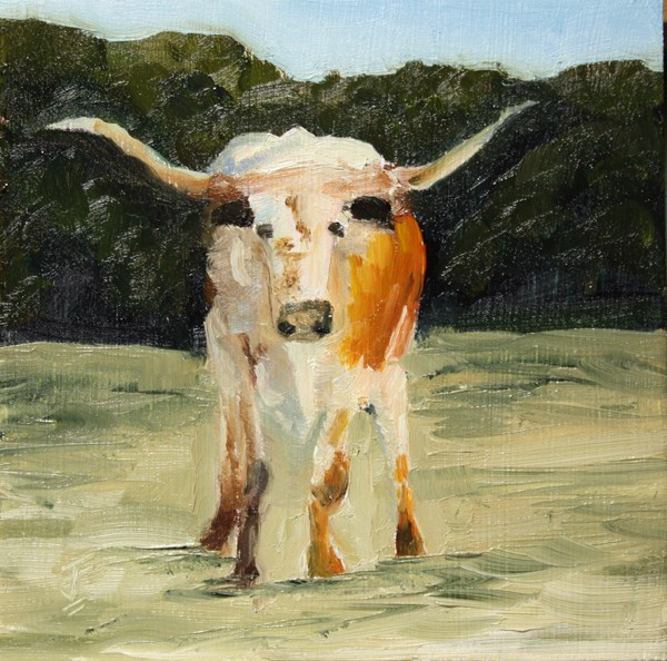 """Native Texan"" original fine art by Jane Frederick"