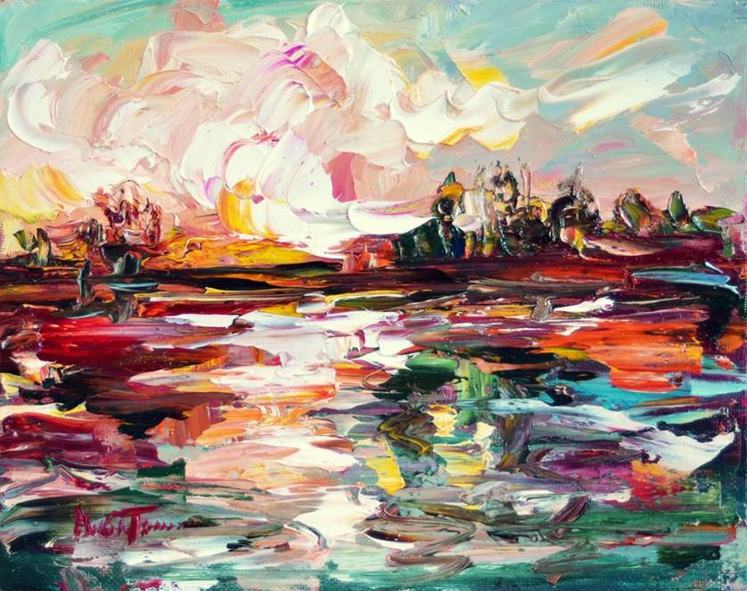 """Sunset after storm"" original fine art by Mikko Tyllinen"