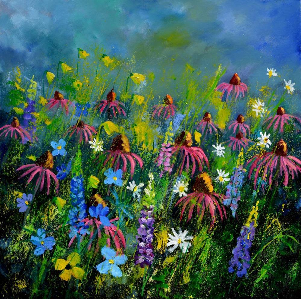 """My garden 8851"" original fine art by Pol Ledent"