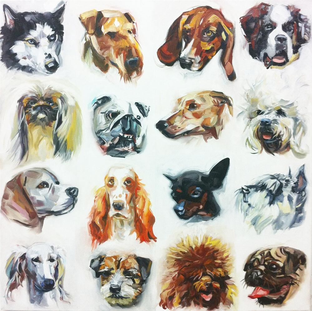 """Dogs"" original fine art by Katy O'Connor"