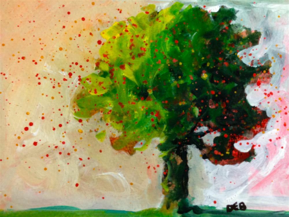 """Whimsical Tree"" original fine art by Debbie Yacenda"