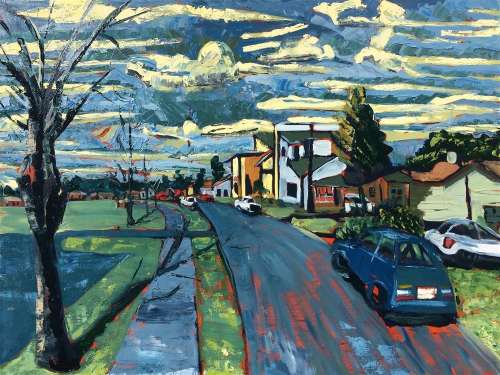 """Morning at Wooten Park"" original fine art by Darryl Freeman"