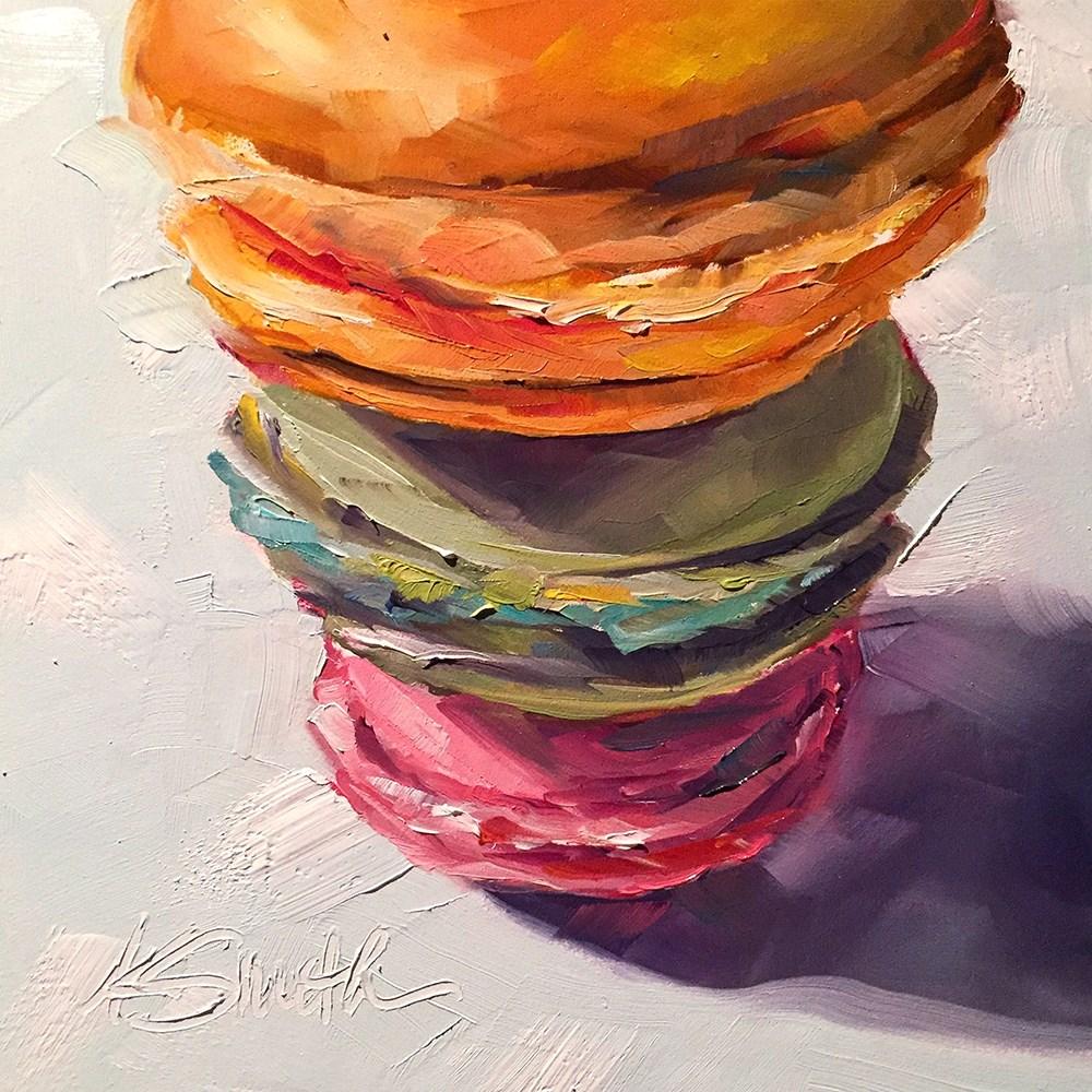 """""""macaroons"""" original fine art by Kim Smith"""