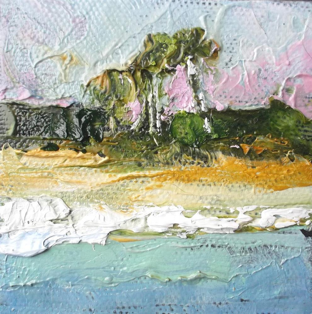 """Miniature Florida Beach"" original fine art by lynne french"