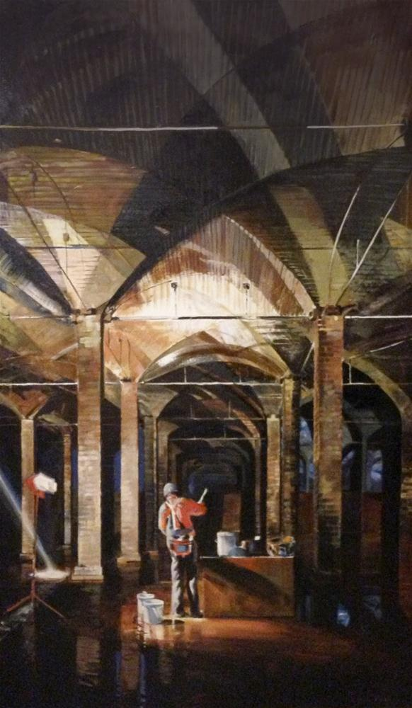 """""""Reservoir Under Centennial Park"""" original fine art by Shirley Peters"""