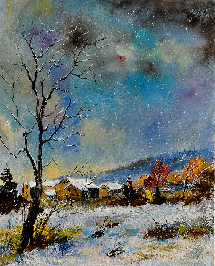 """winter 562110"" original fine art by Pol Ledent"