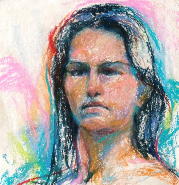 """SKETCH OF A GIRL - Figurative pastel by Susan Roden"" original fine art by Susan Roden"