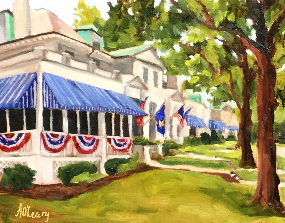 """Annapolis Bunting"" original fine art by Alice O'Leary"