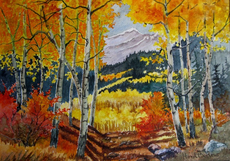 """Aspen Grove"" original fine art by Horst Berlow"