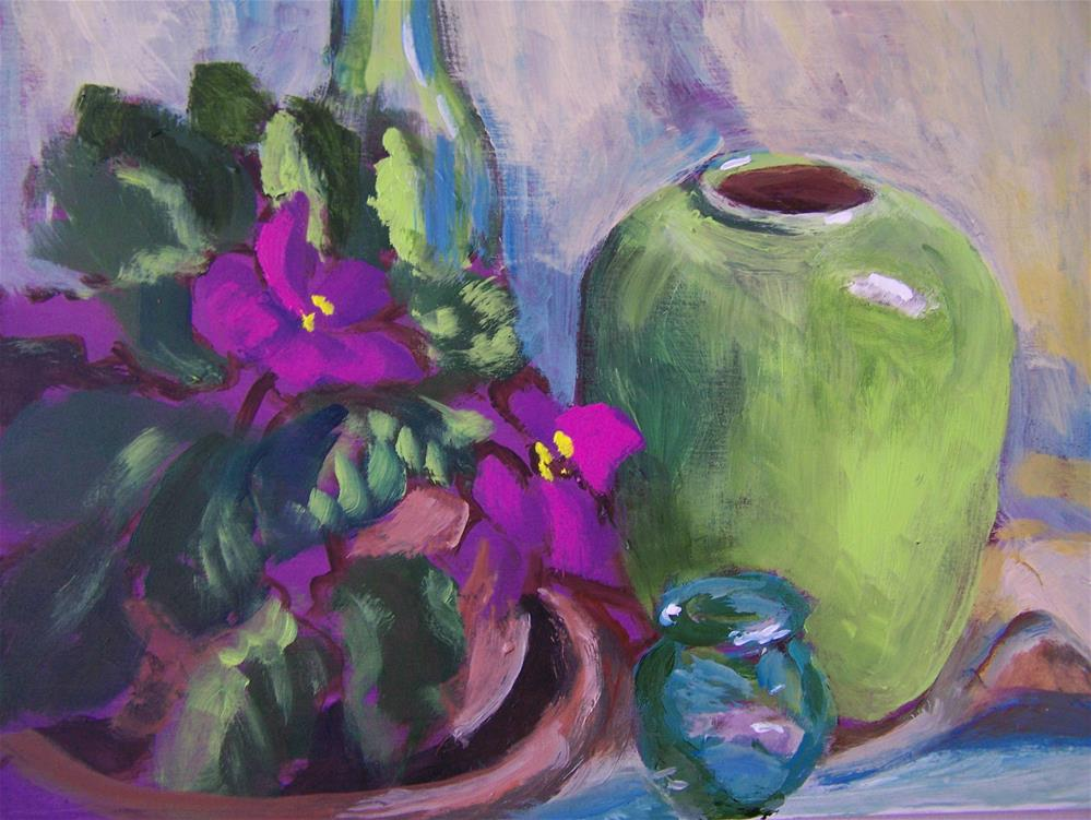 """Violets"" original fine art by Joan Reive"