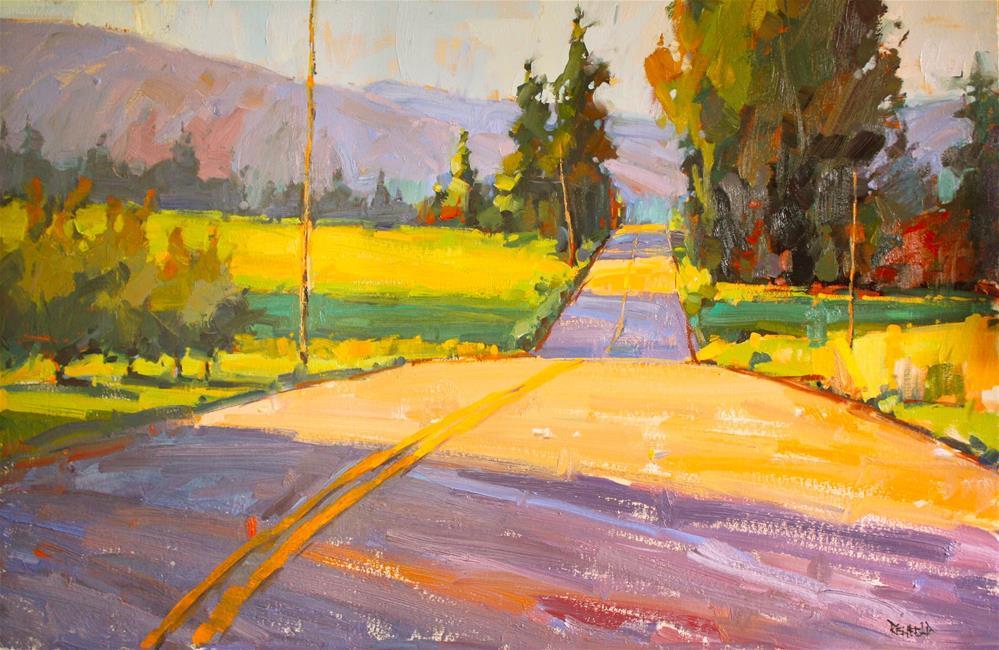 """""""Meandering Road"""" original fine art by Cathleen Rehfeld"""
