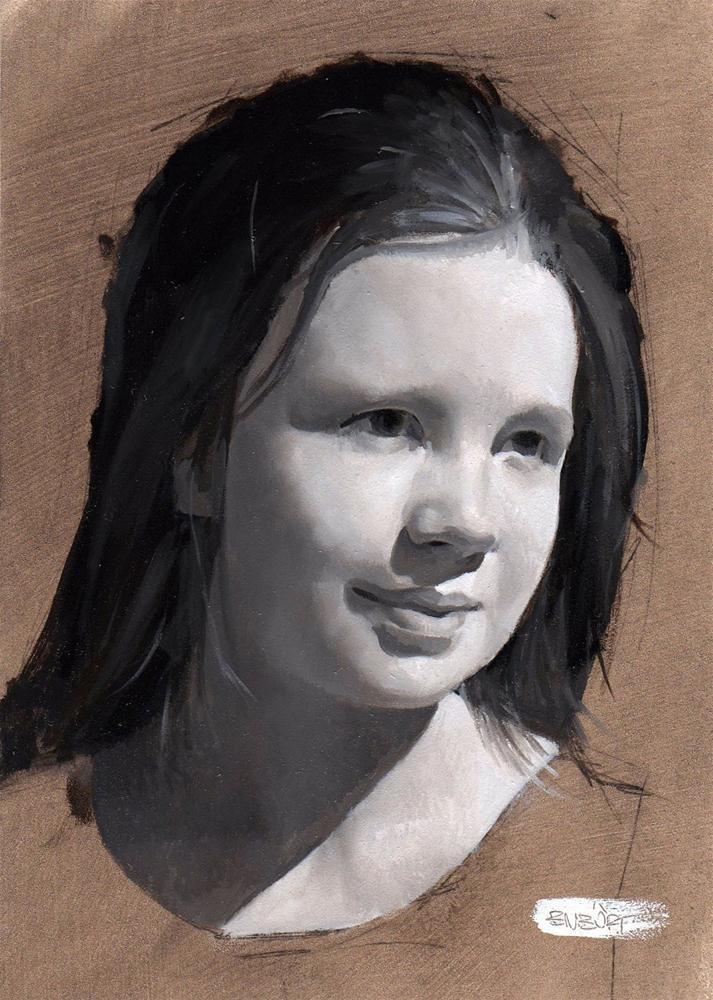 """#283 Torrit Portrait ARTBYTE"" original fine art by Brian Burt"