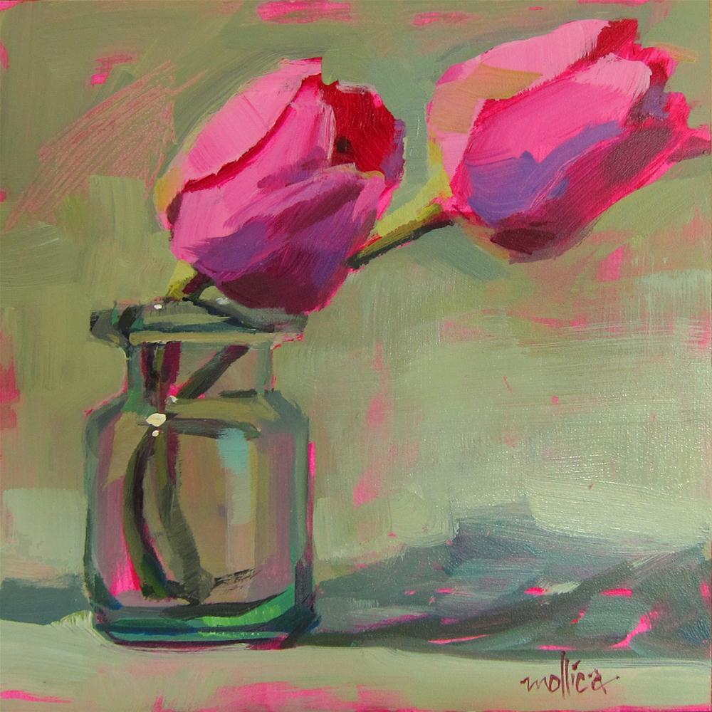 """Pink Tulips"" original fine art by Patti Mollica"