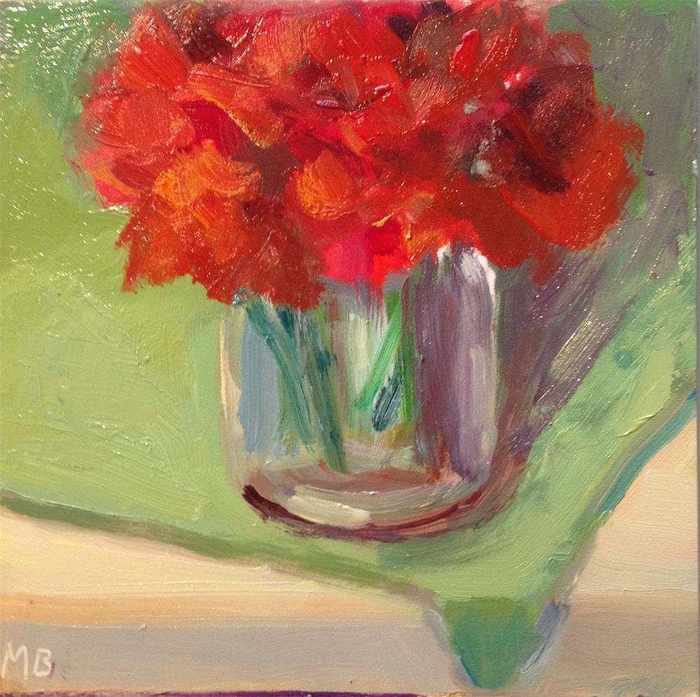 """Flowers on the Edge"" original fine art by Marcia Bergtholdt"