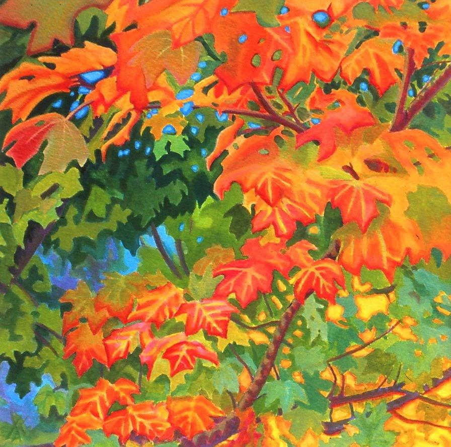 """""""Fall Leaves, OSU campus"""" original fine art by Mark Allison"""