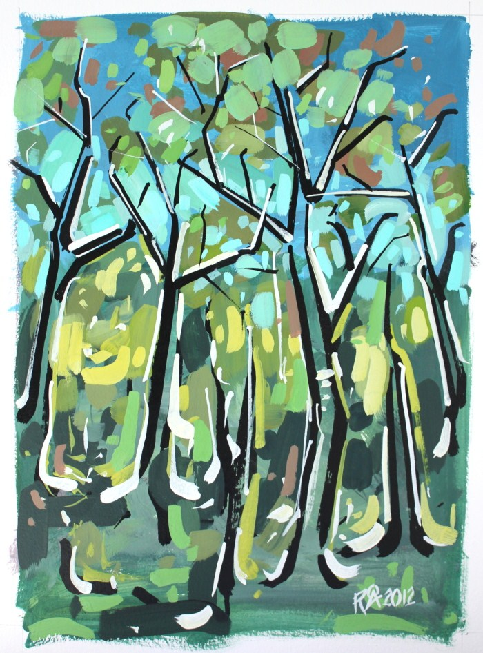 """Forest exploration 1"" original fine art by Roger Akesson"