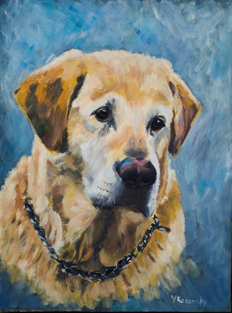 """""""Yellow Labrador"""" original fine art by Yulia Kazansky"""