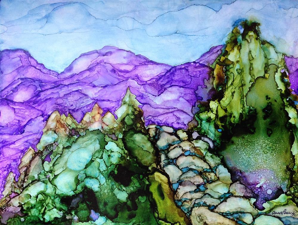 """Purple Mountains"" original fine art by Anna Penny"