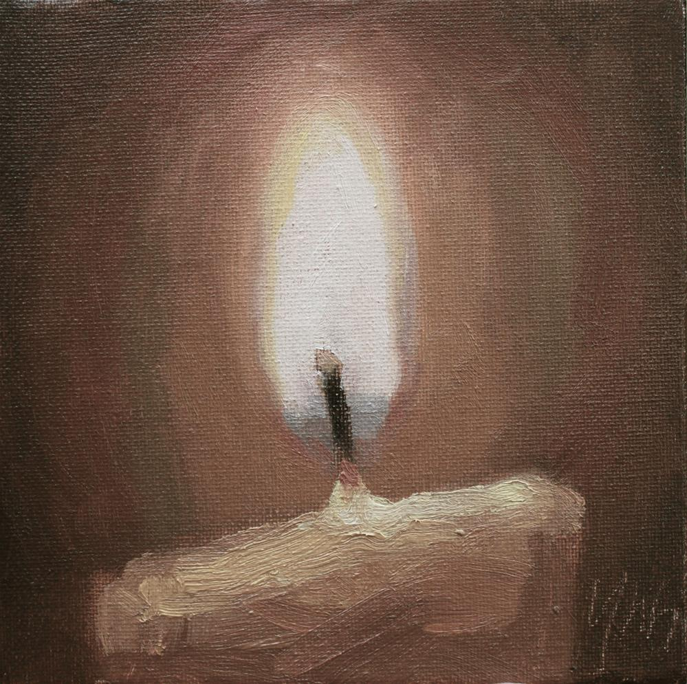 """Candlelight"" original fine art by Yuehua He"