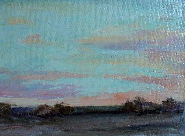 """Fire in the Sky"" original fine art by Susan Hammer"