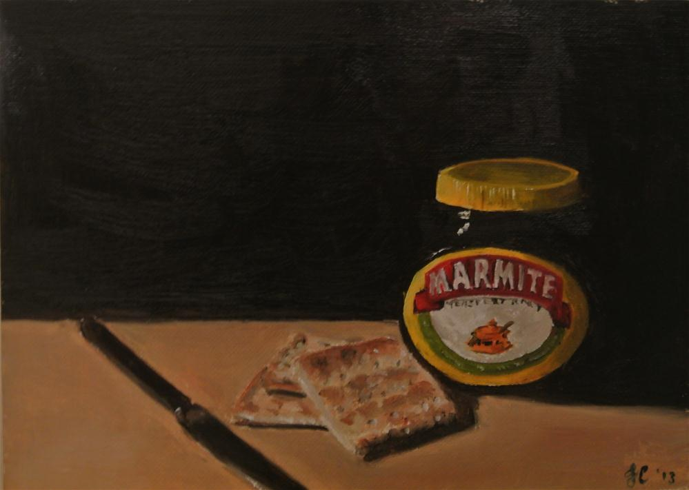 """Marmite and Crackers"" original fine art by James Coates"