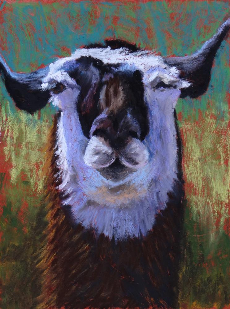 """Winkin' Llama"" original fine art by Denise Beard"