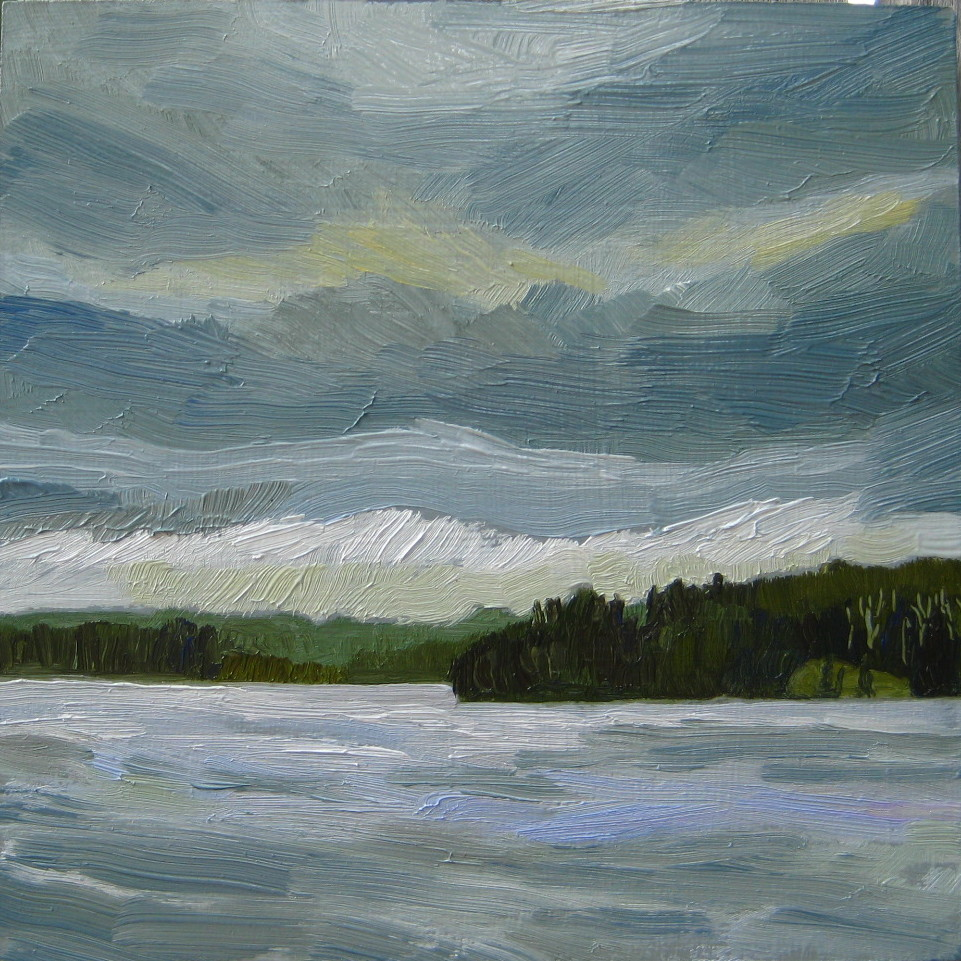 """Rolling Clouds"" original fine art by Nicki Ault"