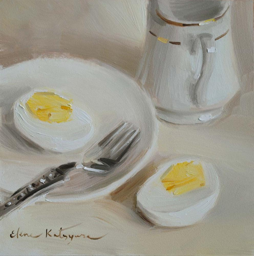 """Serving Brunch"" original fine art by Elena Katsyura"