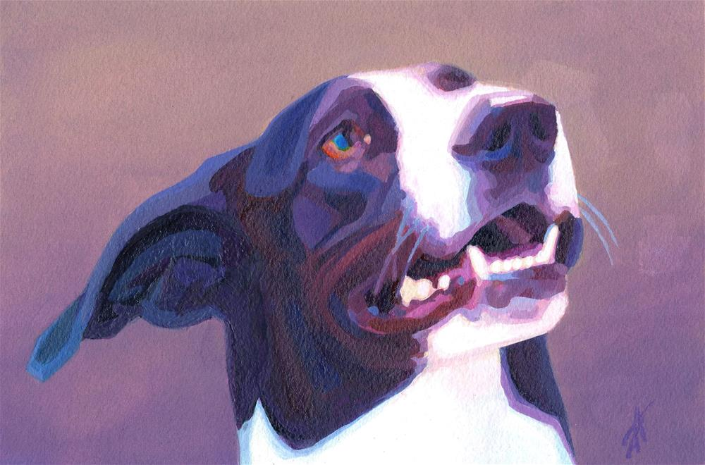 """Throw it!"" original fine art by Mark Allison"