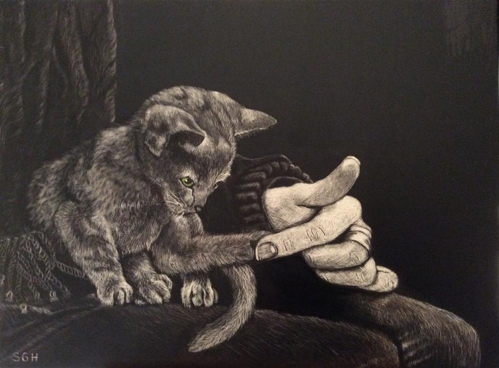 """So Brave"" original fine art by Susan Hoffheimer"