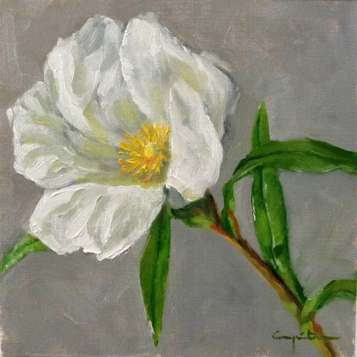 """""""Flor de jara blanca"""" original fine art by Eduardo Carpintero"""