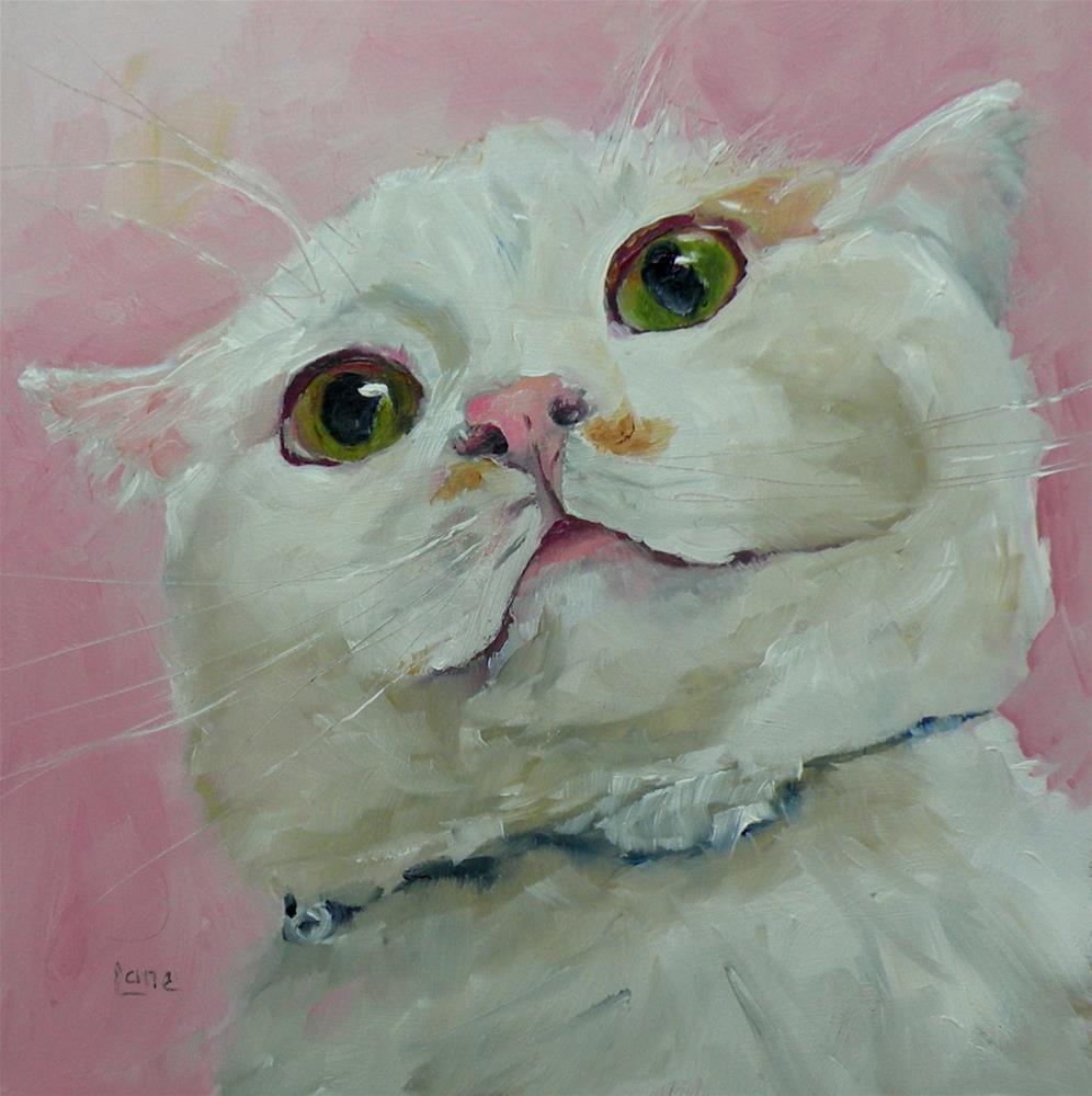 """PIXIE A CAT WITH A SENSE OF HUMOR © SAUNDRA LANE GALLOWAY"" original fine art by Saundra Lane Galloway"