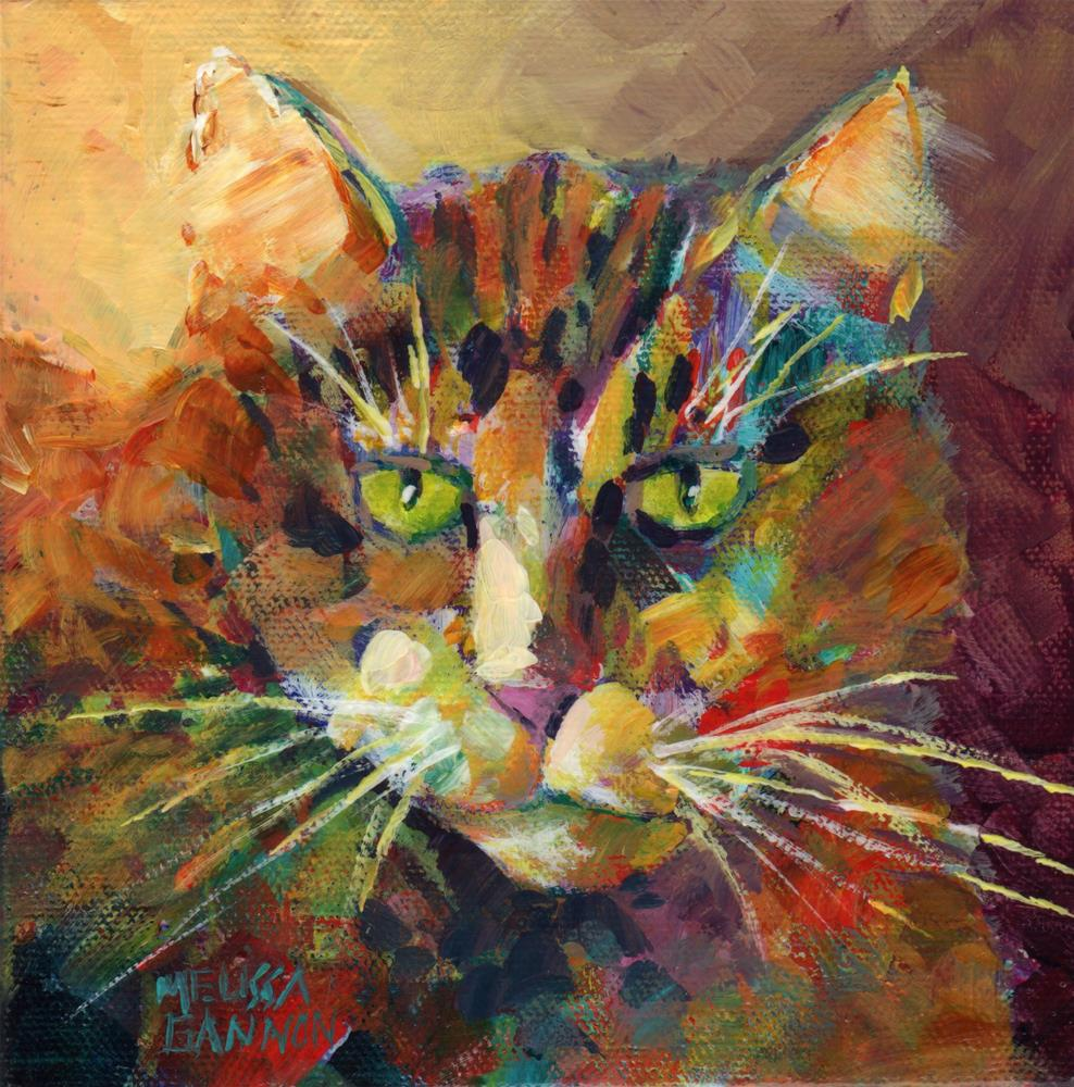 """Green Eyes"" original fine art by Melissa Gannon"