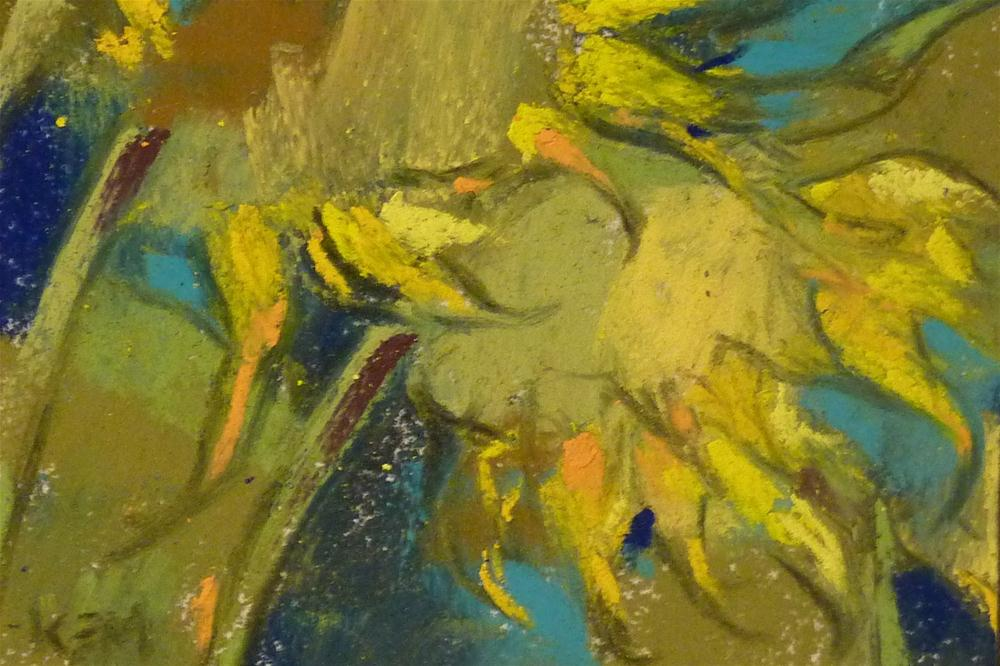 """""""Sunflower V"""" original fine art by Karen Margulis"""