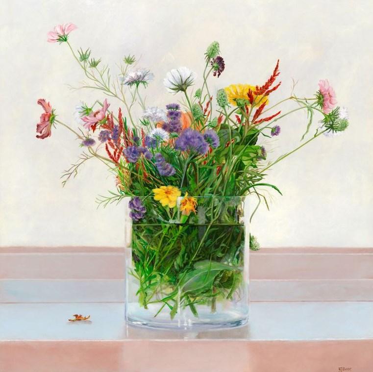 """Original Still Life Floral Painting Under the Surface by Colorado Artist Nancee Jean Busse"" original fine art by Nancee Busse"