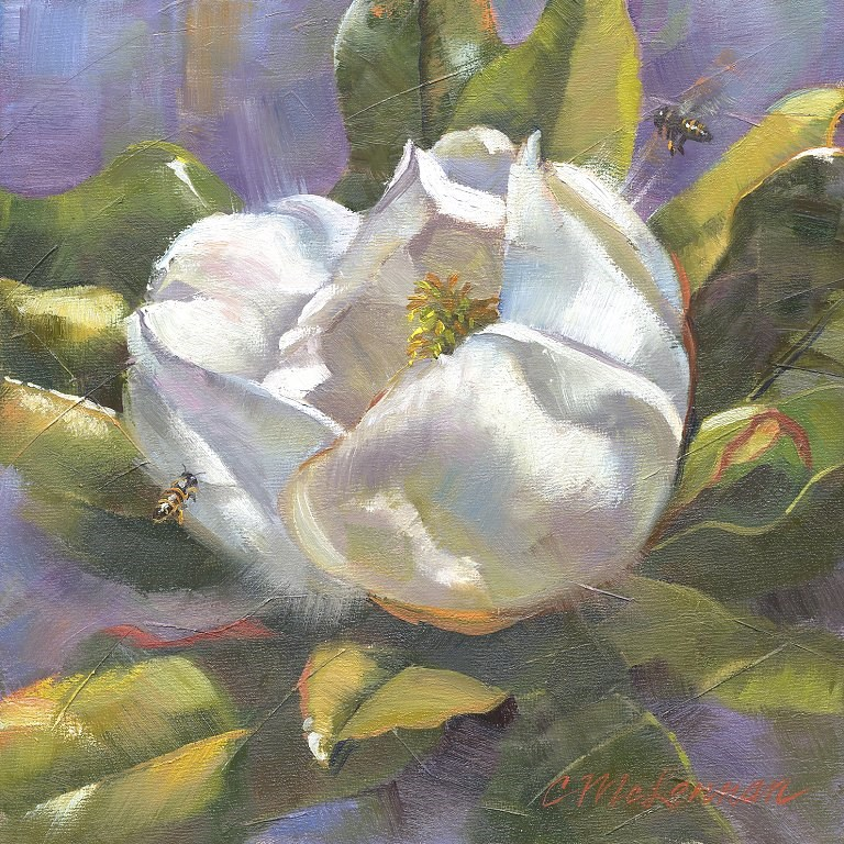 """Magnolia Buzz"" original fine art by Connie McLennan"