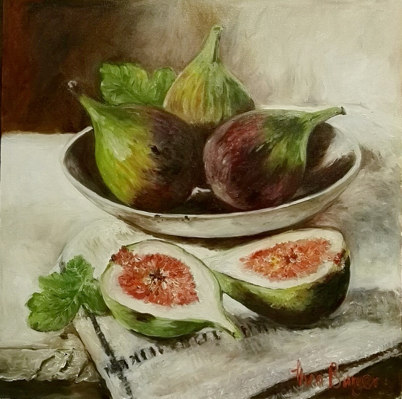 """Fresh figs"" original fine art by thea burger"