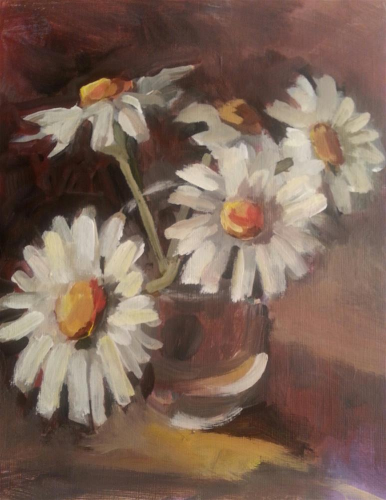 """Daisies in the light"" original fine art by Liz Maynes"