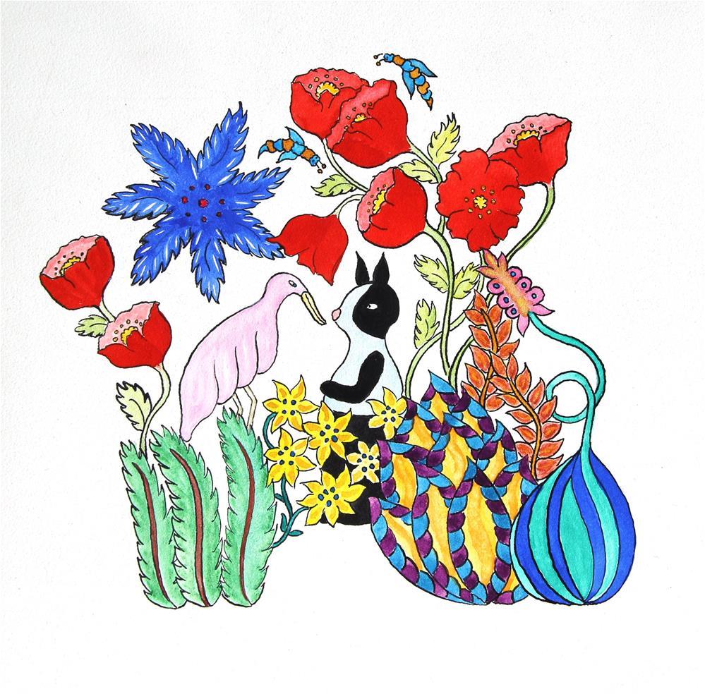 """""""Funny bunny"""" original fine art by Susan Medyn"""