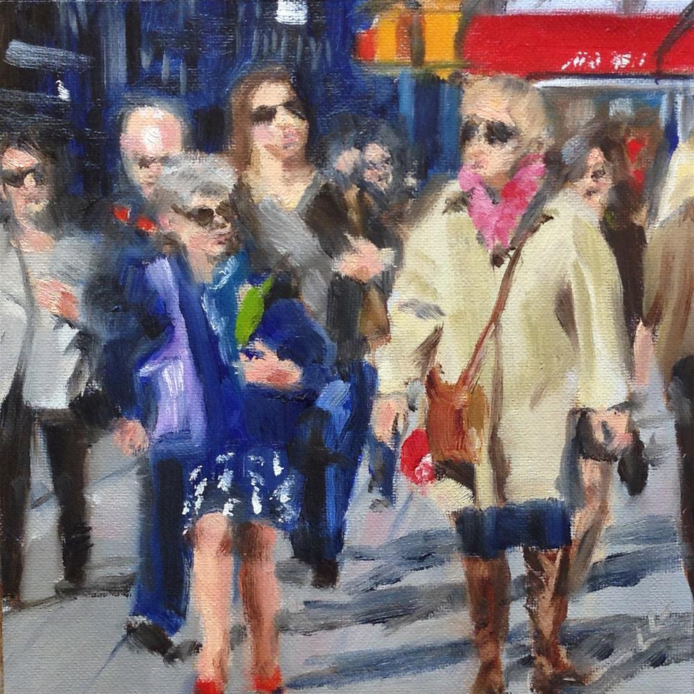 """Out on the Street"" original fine art by Linda Lowery"