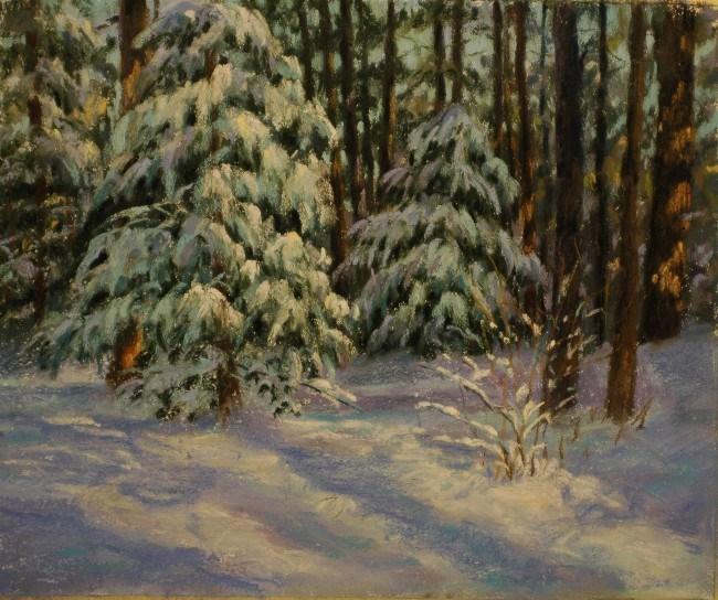 """Freshly Fallen"" original fine art by Susan Klabak"